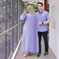Baju Couple Kapel Cople Samaan Pasangan Kemeja Gamis Busana Muslim