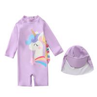 Baju Renang Anak Perempuan Divesuit Unicorn Pink - SW1814