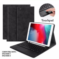 bluetooth Keyboard case ipad mini 5 4 with touch pad and pencil case
