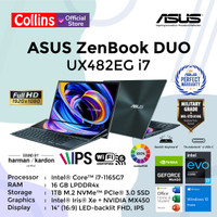 ASUS ZENBOOK DUO UX482EG i7-1165G7 16GB 1TB MX450 14 FHD TOUCH OHS