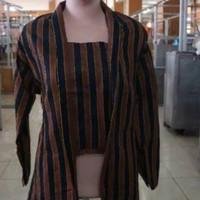 Kebaya Lurik Wanita / Baju Kebaya Adat Jawa / Seragam Batik Lurik