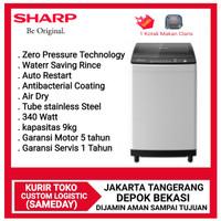 Sharp Mesin Cuci Top Loading ES-M9000T-GG New Megamouth Series 9Kg