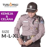 Baju Celana Setelan Seragam Safari Satpam Security Baru PDL Terbaru