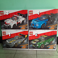 Lego Brick Mobil Klasik Balap Ducati Mustang Ferrari Pull Back 2 in 1