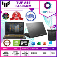 ASUS TUF A15 FA506QM RTX3060 6GB RYZEN 7-5800H 8GB 512GB OHS W10 144Hz