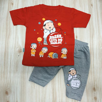 baju setelan bayi laki laki 0-12 bulan, All size motif anak sholeh