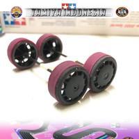 TAMIYA BAN BUBUT STO / VELG DISH BLACK & BAN MAROON AS 72MM LIST BLACK