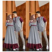 baju couple/busana muslim family set/baju koko/dress