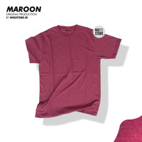 KAOS POLOS MAROON MISTY TWOTONE COTTON COMBED 30S