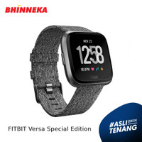 FITBIT Versa Special Edition [FB505BKGY-CJK] - Charcoal Woven
