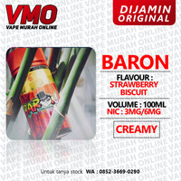 BARON STRAWBERRY BISCUIT 100ML 3MG 6MG BY JK BREWERY - 3MG