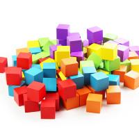 100pcs Balok Kubus Kayu Educational Toys Mainan Edukasi Anak ME064