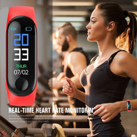 MURAH M3 Smartband Smartwatch Waterproof iP67 Bluetooth Wrist Watch