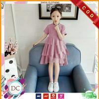 Baju Anak Perempuan Terbaru Dress TIKIDS (Usia 2-5 Thn) - Dusty Pink, 2-5 tahun