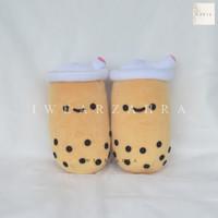 BONEKA BOBA - Bubble Milk Tea Plushie Bantal Guling Bolster Mainan