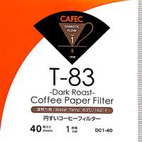 CAFEC V60 DARK ROAST OSMOTIC FLOW Coffee Paper Filter (40 pieces)