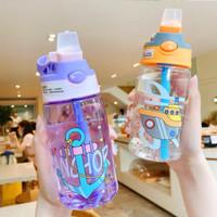 Botol Air Minum Anak dengan Sedotan BPA FREE/ botol minum anak lucu