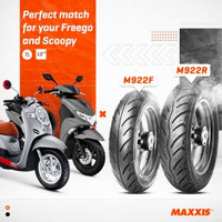 Ban Maxxis Scoopy M922F Ring 12 100/90-12 Orig no michelin pirelli fdr