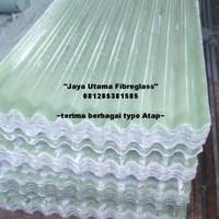 Atap bening Fiberglass, atap penerangan fiberglass