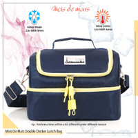 Lunch Bag MOIS DE MARS Double Decker inner Alu Foil Free Style