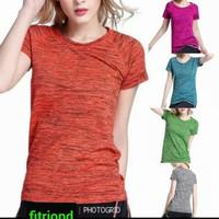 baju senam wanita zumba gym yoga olahraga fitnes jogging lengan pendek