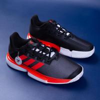 Sepatu Tenis adidas SoleMatch Sole Match Bounce 2020 - Black/Red