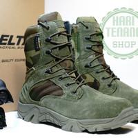 SEPATU DELTA PDL HIJAU 8INC/BOOTS TACTICAL ARMY/SEPATU TACTICAL IMPORT