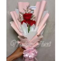 Bunga Buket / Hand Bouquet Mawar Asli Romantis dan Wisuda