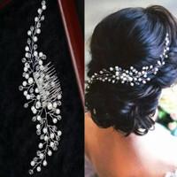 Garcia haircomb pearl Sirkam mutiara aksesoris pesta tiara wedding