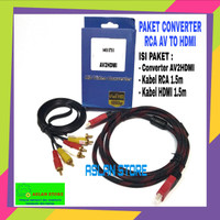 AV2HDMI Converter adapter Av to Hdmi / Rca To HDMI / Adapter Mini Box