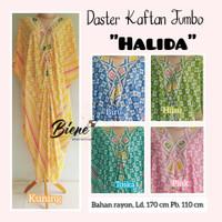 Daster Kaftan JUMBO Batik Solo Rayon Halida - Kuning