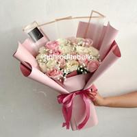 20 Rose Bouquet Premium / Hadiah Buket Bunga Ulang Tahun / Wisuda