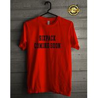 Tshirt Baju Kaos Distro Sixpack Coming Soon Tangan Pendek Murah Unisex