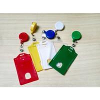 yoyo Name Tag Id card Holder Mika Casing Plastik dan Yoyo