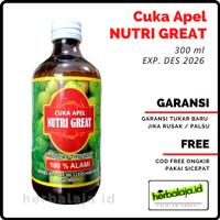 Cuka Apel Organik Original 300 ml - Untuk Wajah jerawat /Diet/ Rambut