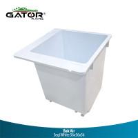 Gator Bak Mandi Plastik Persegi White 56x56x56cm
