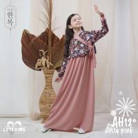 Baju Muslim Gamis Dress Anak Perempuan Usia 3 12 Tahun Terbaru 2021