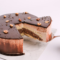 Hazelnut Chocolate Birthday Cake