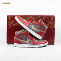 Sepatu NIKE AIR JORDAN 1 x LEVI's Denim Pack Exclusive Box - 10