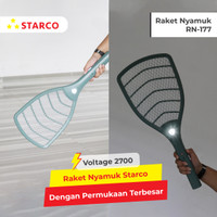 Starco Raket Nyamuk LED Light Rechargeable RN177 - Hijau