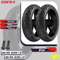 Paket Ban Motor Matic // CORSA V22 PLATINUM 80/90 - 90/90 Ring 14