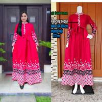 Baju Wanita//Dress Gamis Batik motif terbaru 2019 (kamin99)