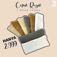 CIPUT BANDANA RAJUT - Inner Hijab Anti Pusing Dalaman Daleman Jilbab K