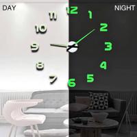 Jam Dinding Besar DIY Dekorasi Interior 70-100 cm 3D GID Silent Clock