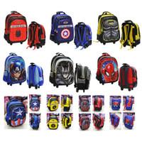 Tas Trolley Anak SD Import - Avengers + Spiderman Hard Cover