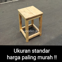 kursi kayu / kursi bakso / bangku kecil / stool baso jati Belanda