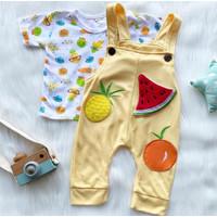 Baju setelan kaos overall tsumtsum pergi jalan lucu anak bayi cewek