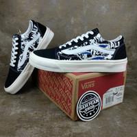Sepatu Vans Old skool RALPH STEADMAN Blue Tuna black white premium