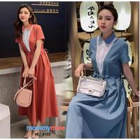Mommymine Dress Hamil / Menyusui Import (MD_8102) - Blue, M
