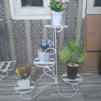 rak pot bunga, rak bunga 4 susun, standing pot besi murah, rak tanaman
